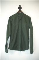 Forest Green Balmain Button Shirt, size S