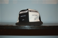 Black & White Moschino Snapback Cap, size M