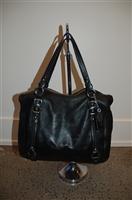 Black Leather Coach Purse, size L