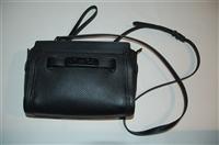 Black Leather Coach Cross-Body, size S